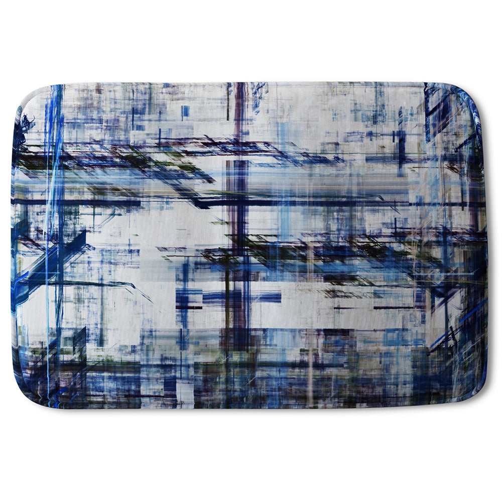 New Product Blue Grunge Pattern (Bathmat)  - Andrew Lee Home and Living