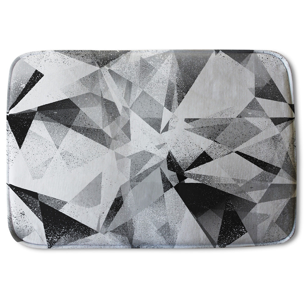 New Product Black & White Geometric Grunge Pattern (Bathmat)  - Andrew Lee Home and Living