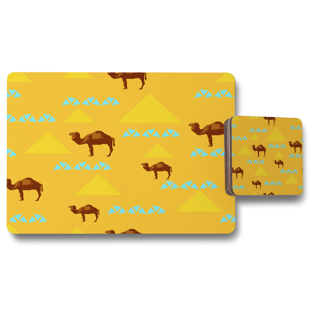 New Product Seamless pattern with camels (Placemat & Coaster Set)  - Andrew Lee Home and Living
