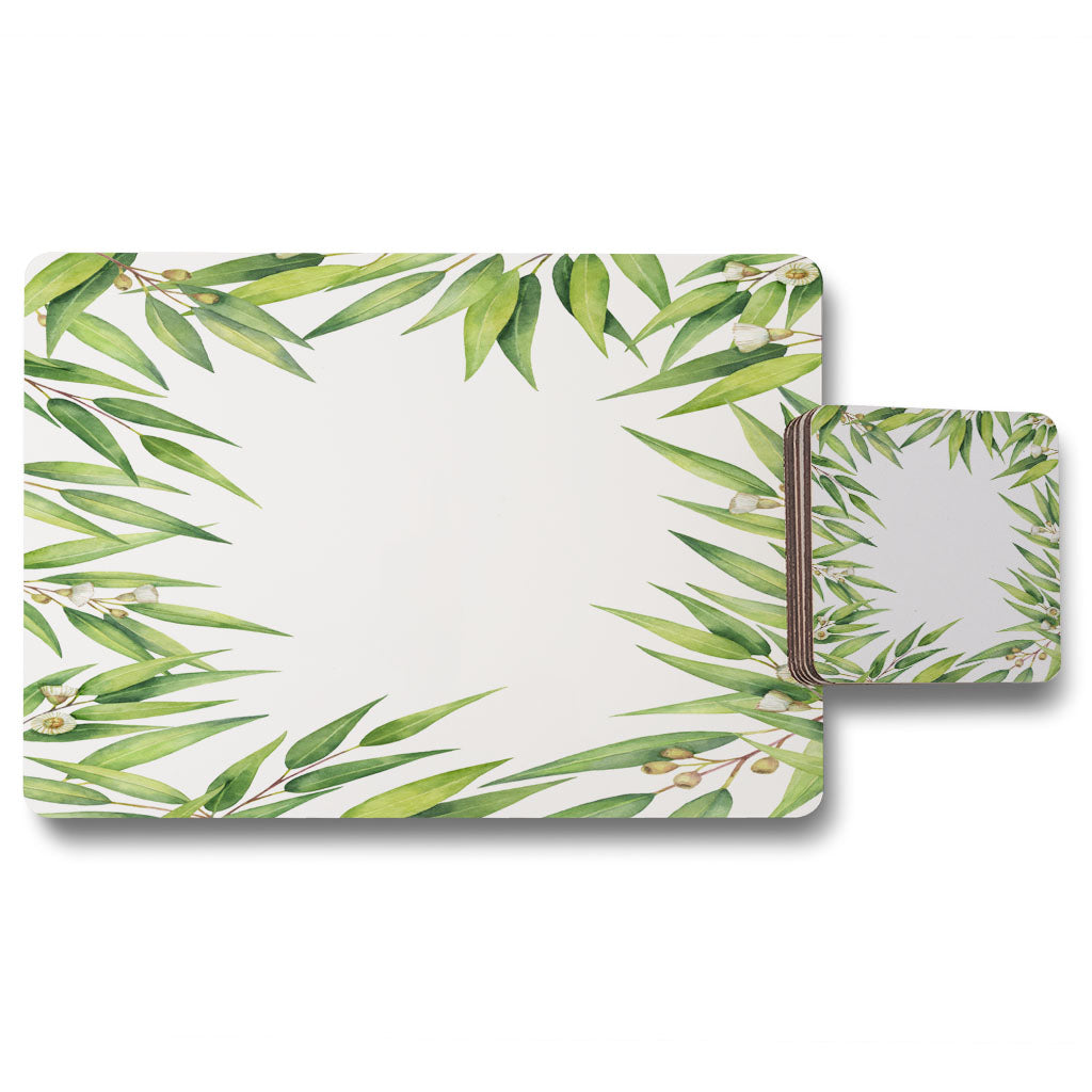 New Product Leaves Border (Placemat & Coaster Set)  - Andrew Lee Home and Living