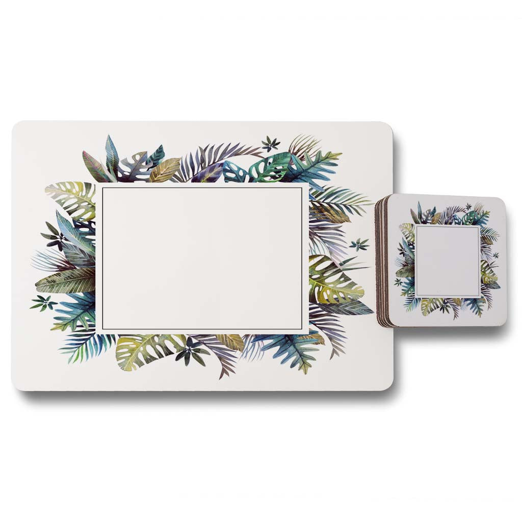 New Product Square Tropical Border (Placemat & Coaster Set)  - Andrew Lee Home and Living