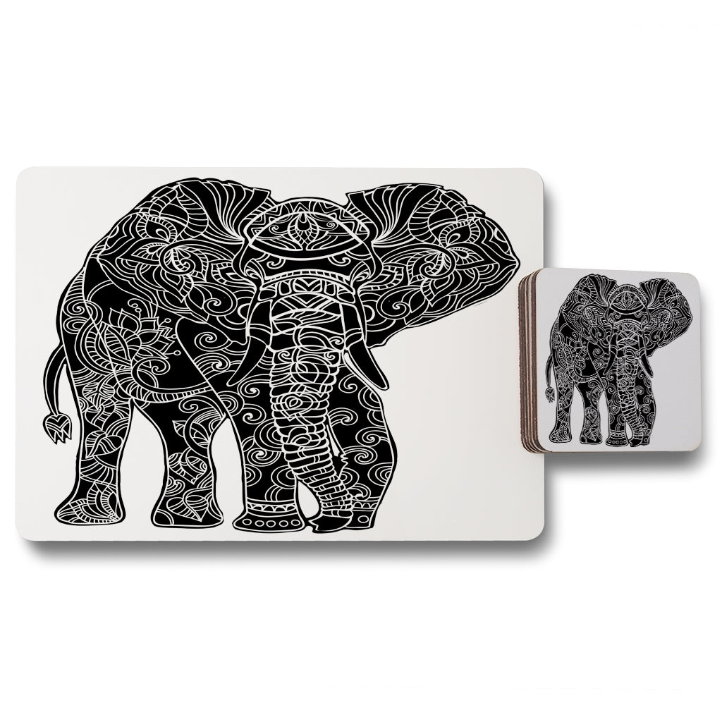 New Product Elephant Silhouette (Placemat & Coaster Set)  - Andrew Lee Home and Living