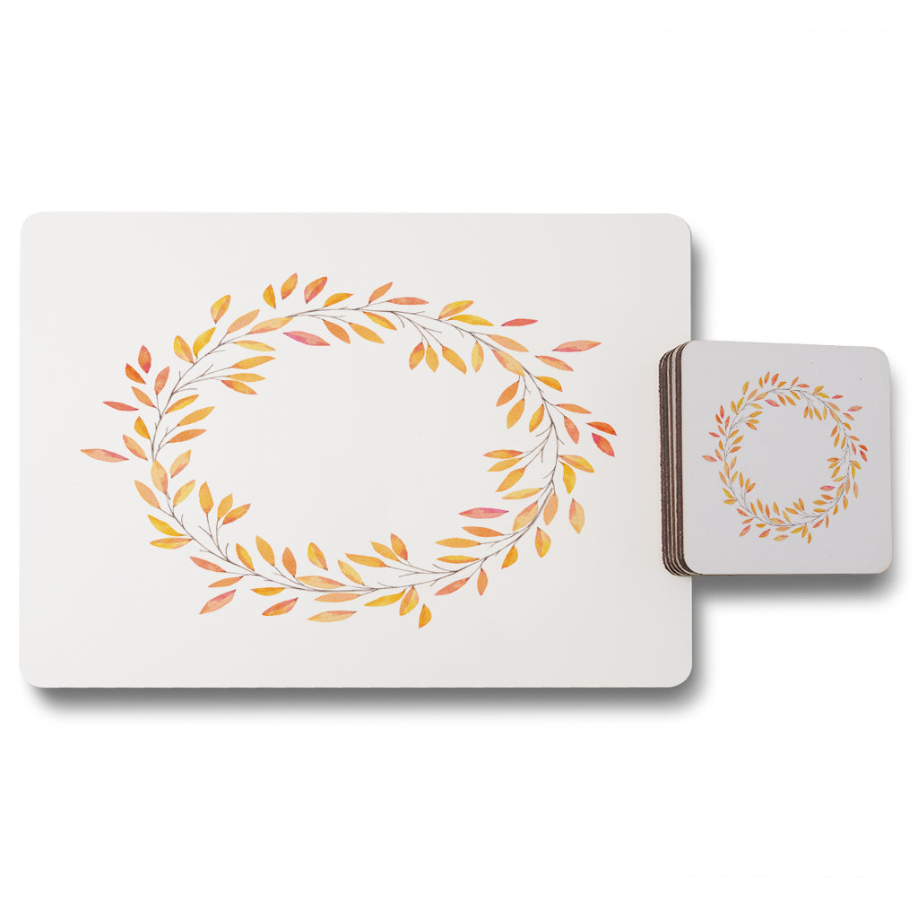 New Product Autumn Reath (Placemat & Coaster Set)  - Andrew Lee Home and Living