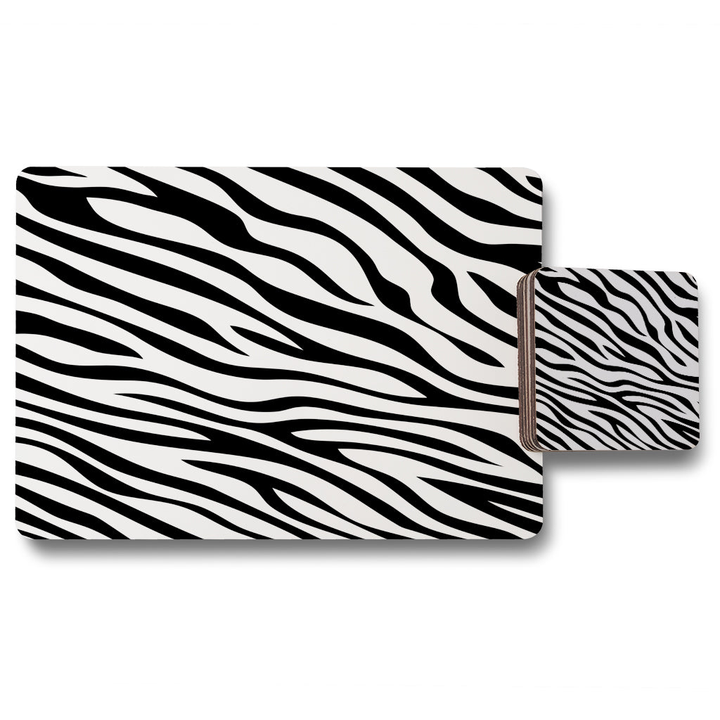 New Product Print of Zebra Stripes (Placemat & Coaster Set)  - Andrew Lee Home and Living