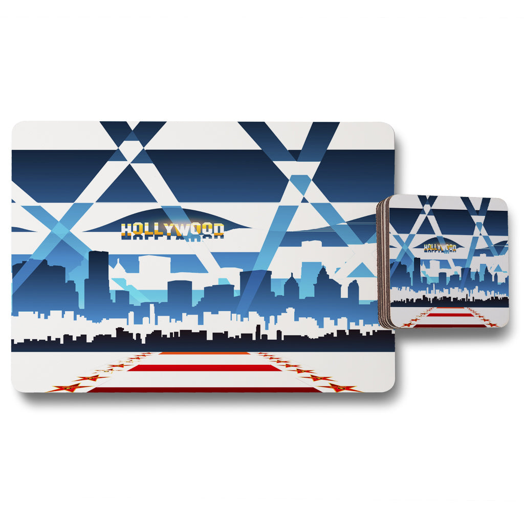 New Product Hollywood (Placemat & Coaster Set)  - Andrew Lee Home and Living