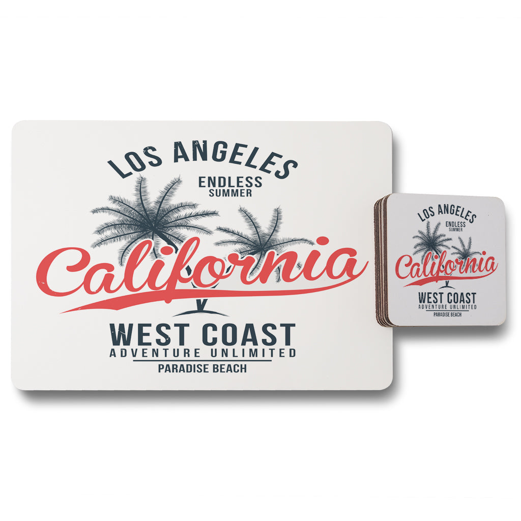New Product Cali West Coast (Placemat & Coaster Set)  - Andrew Lee Home and Living