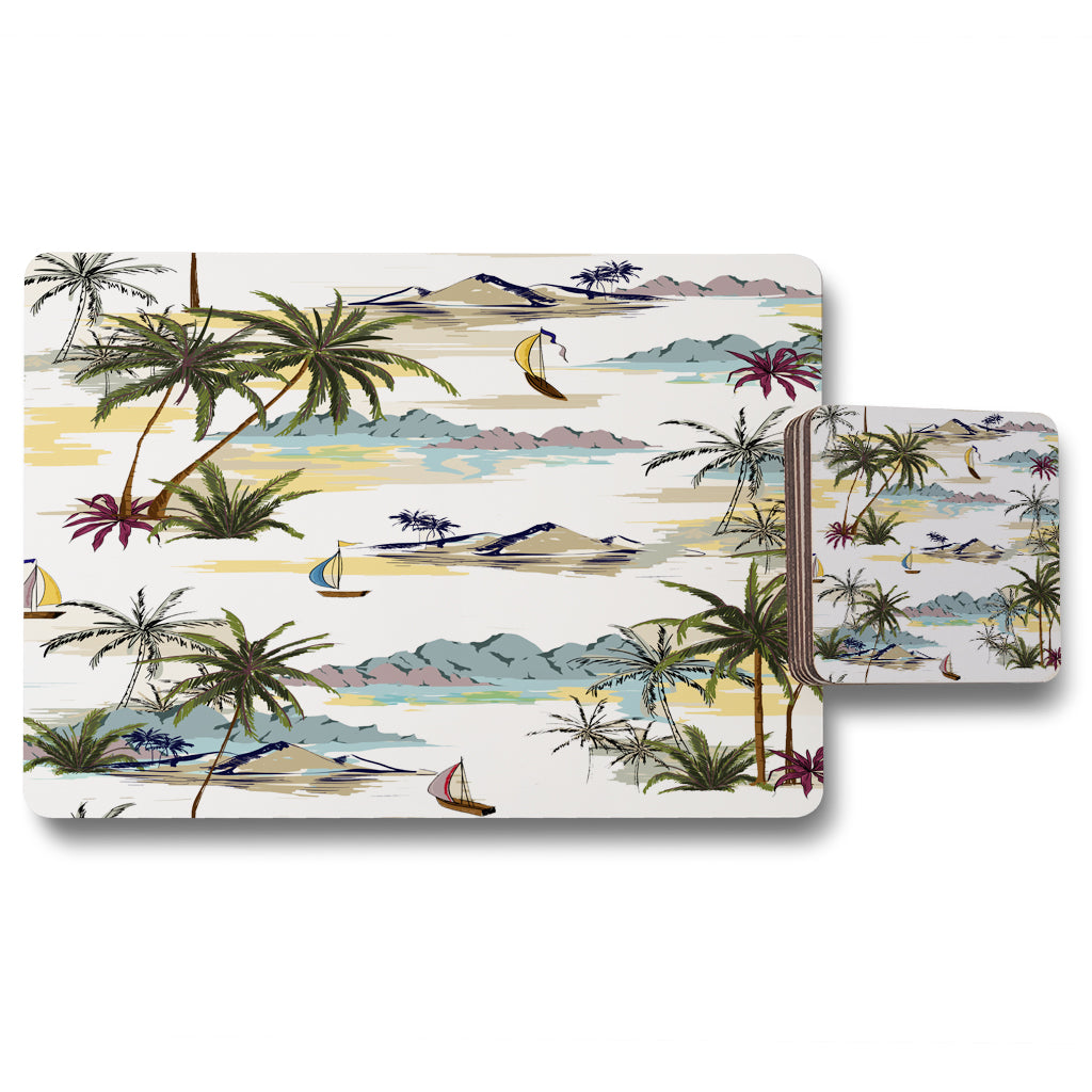 New Product Palm Trees (Placemat & Coaster Set)  - Andrew Lee Home and Living