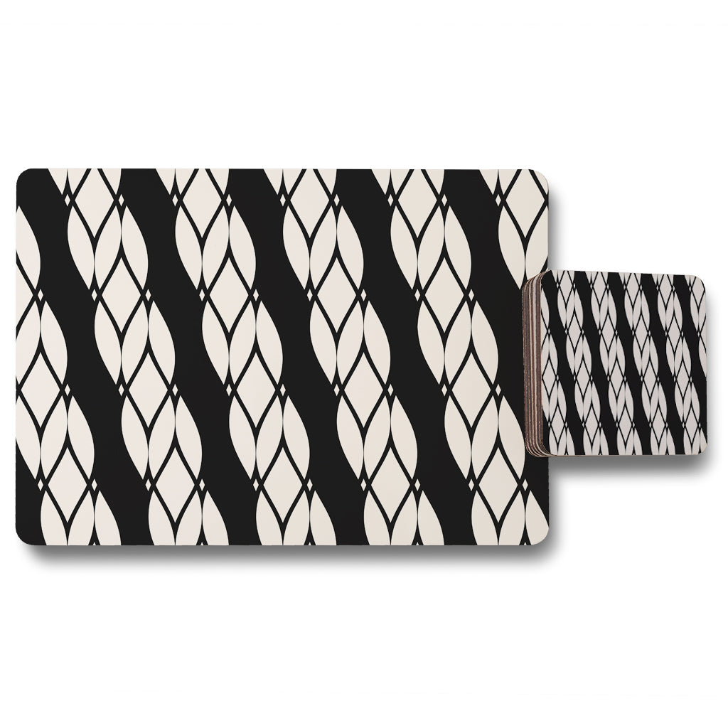 New Product Geometric Rope Pattern (Placemat & Coaster Set)  - Andrew Lee Home and Living