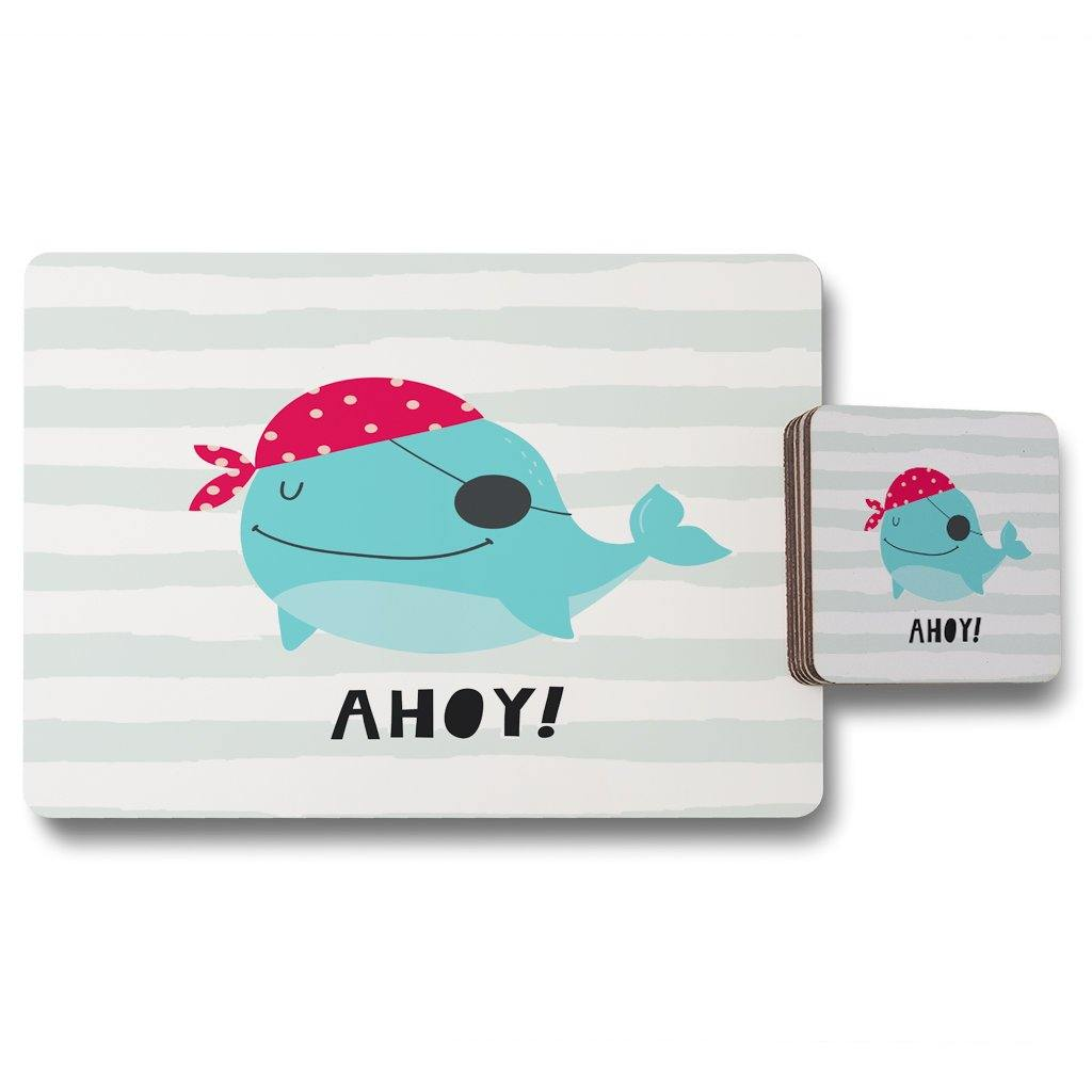 New Product Ahoy! Whale (Placemat & Coaster Set)  - Andrew Lee Home and Living
