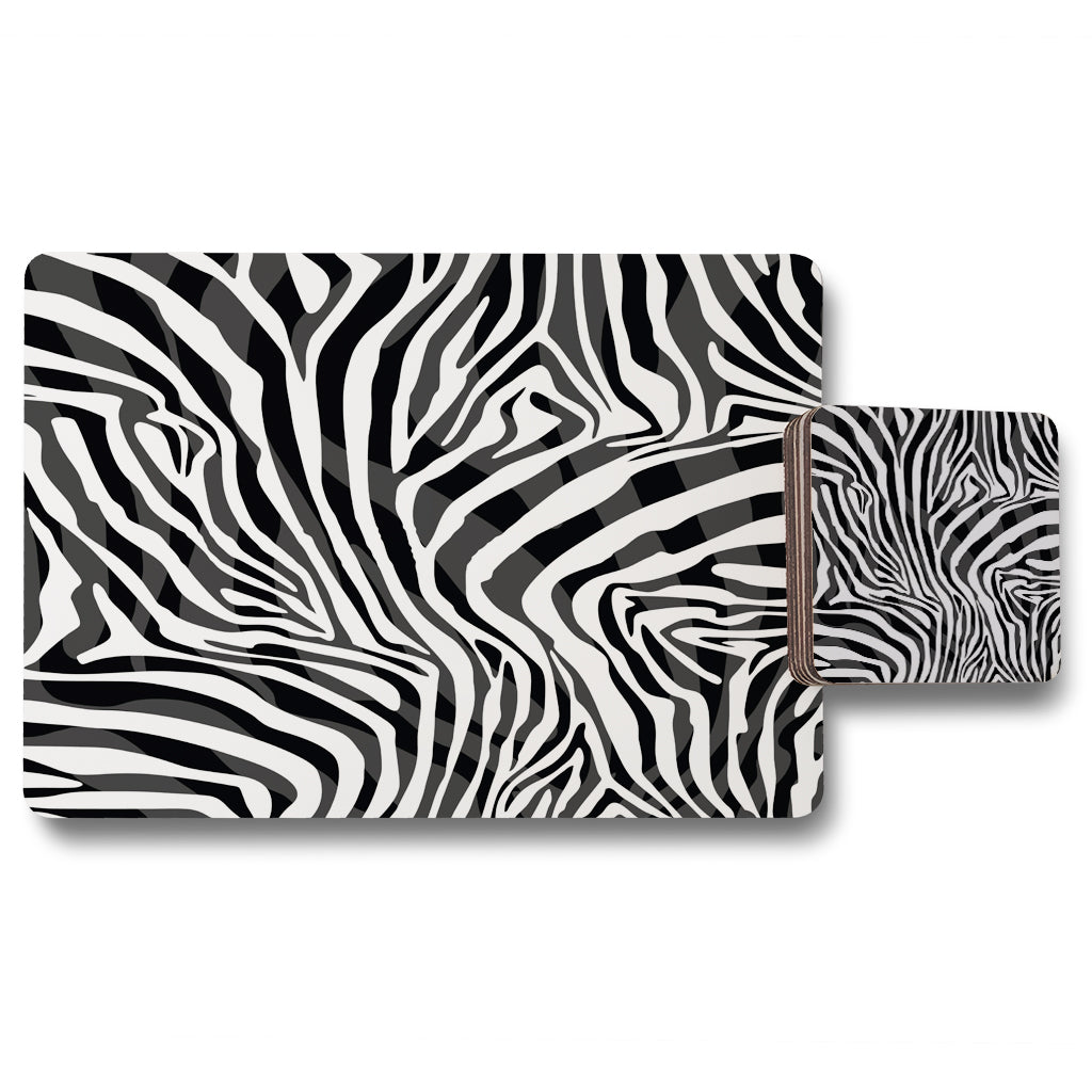 New Product Zebra Animal Print (Placemat & Coaster Set)  - Andrew Lee Home and Living