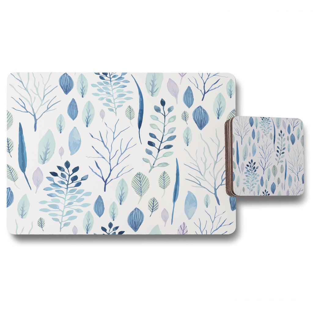 New Product Winter Branches & Leaves (Placemat & Coaster Set)  - Andrew Lee Home and Living
