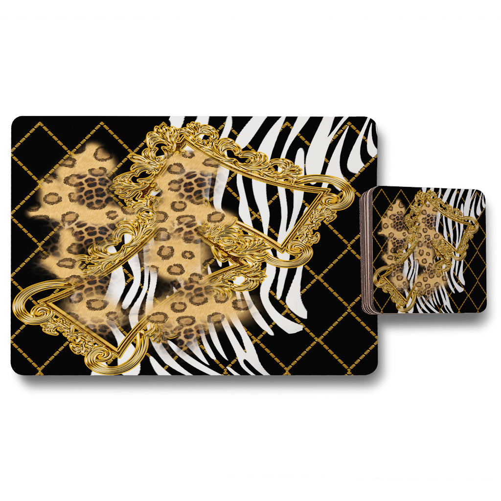 New Product Zebra & Baroque (Placemat & Coaster Set)  - Andrew Lee Home and Living