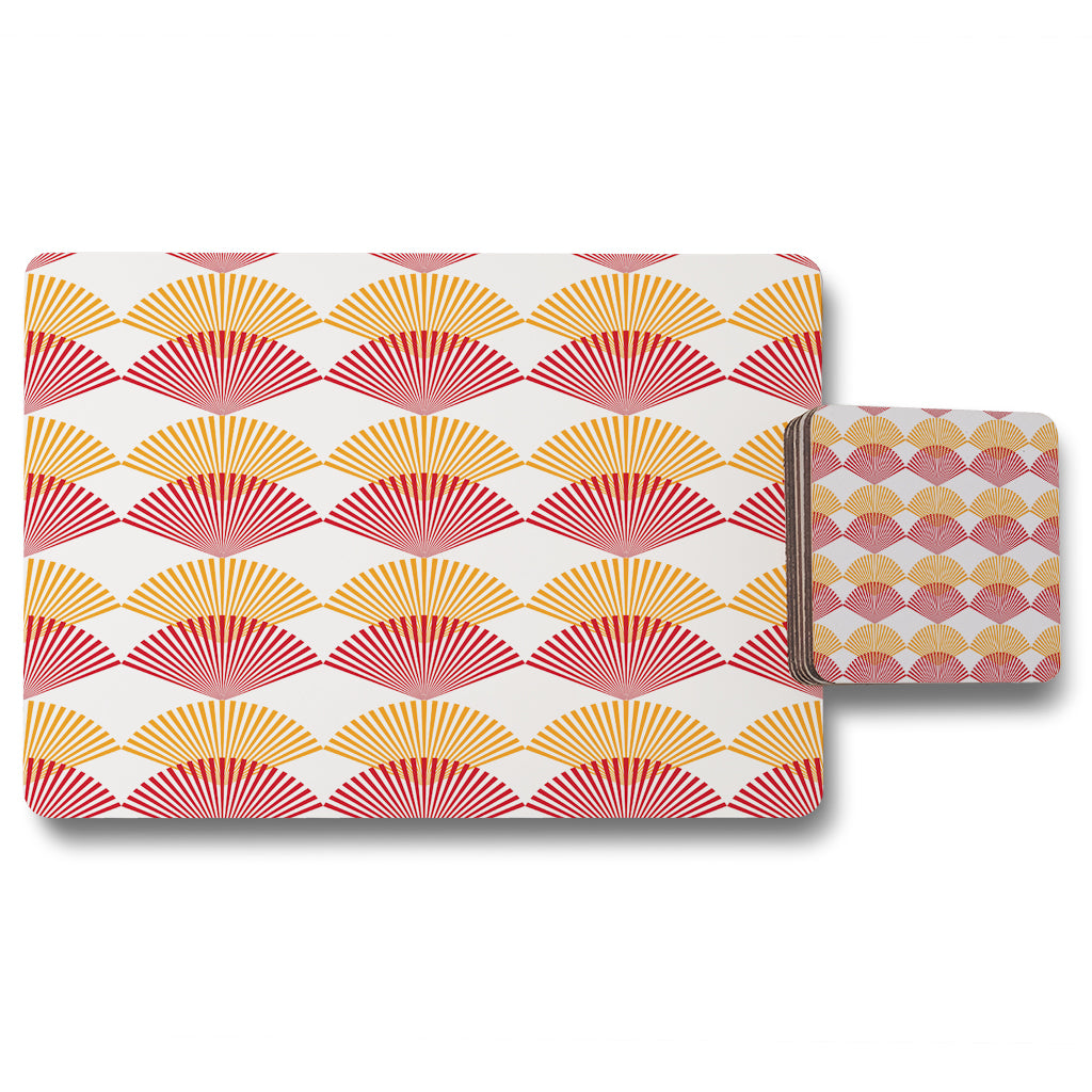 New Product Geometric Sea Shells (Placemat & Coaster Set)  - Andrew Lee Home and Living