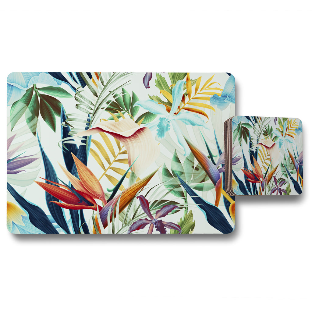 New Product Tropical Plants (Placemat & Coaster Set)  - Andrew Lee Home and Living