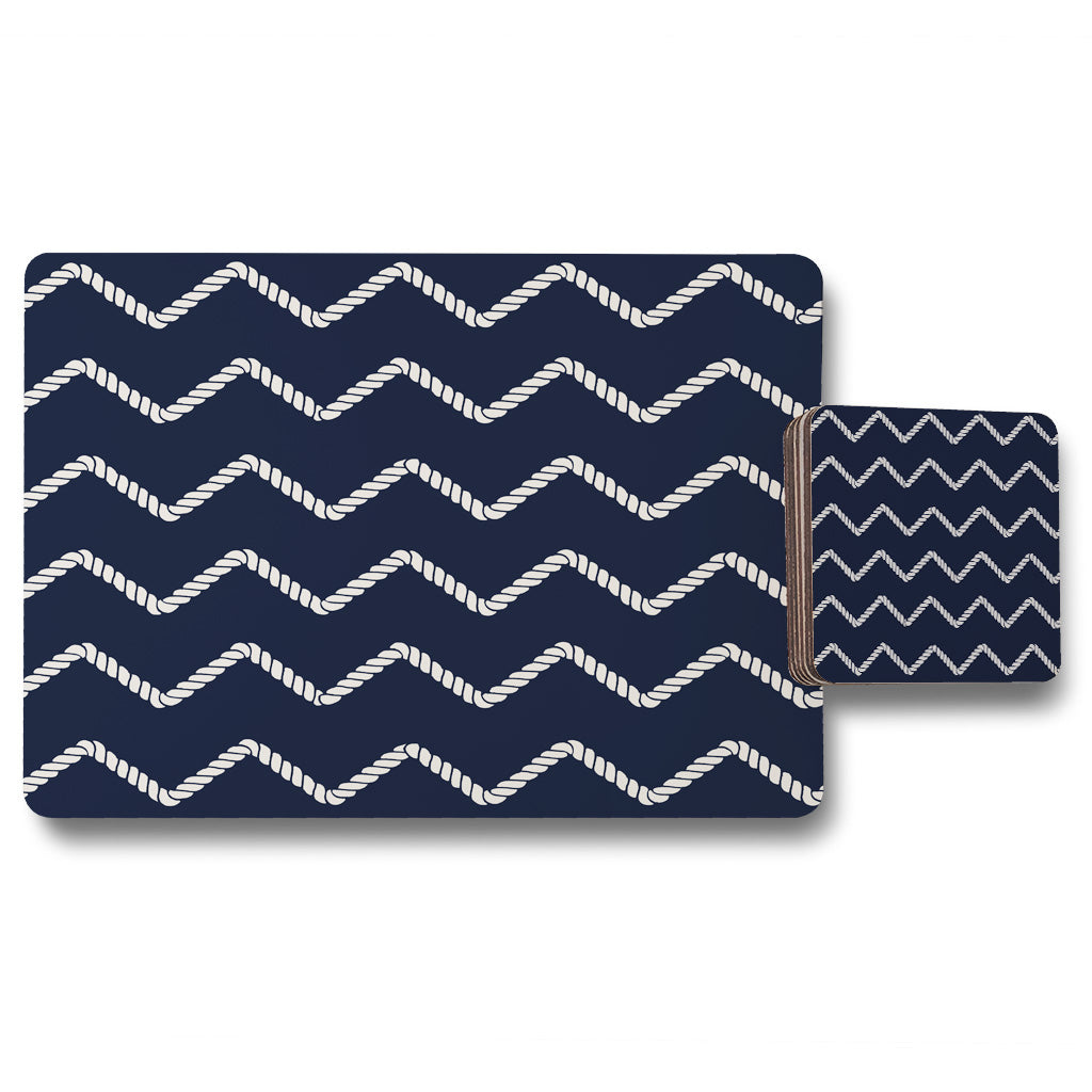 New Product Zig Zagged Rope (Placemat & Coaster Set)  - Andrew Lee Home and Living