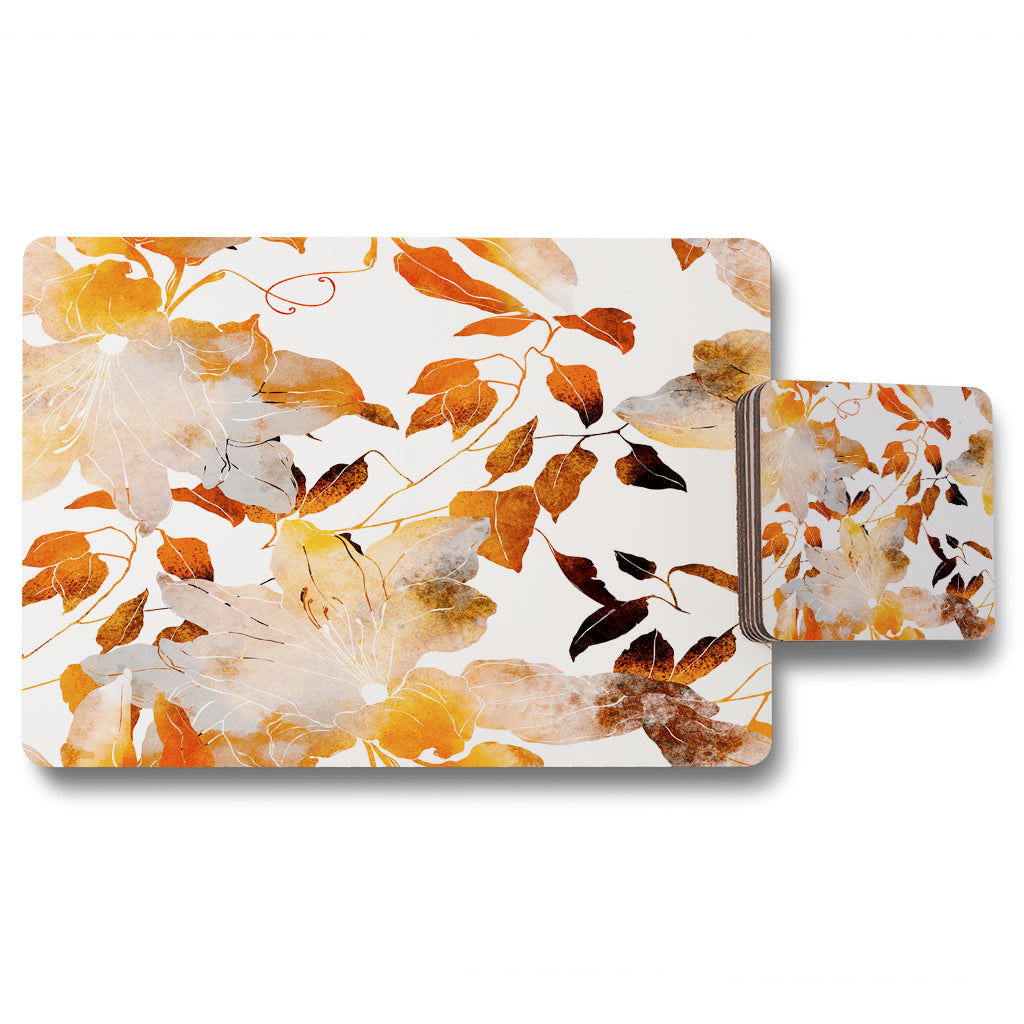 New Product Flowers in Autumn Colours (Placemat & Coaster Set)  - Andrew Lee Home and Living