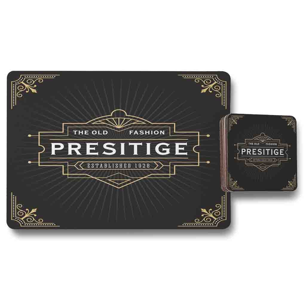 New Product Art Deco Old Fashioned Prestige (Placemat & Coaster Set)  - Andrew Lee Home and Living
