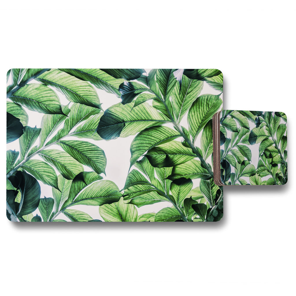 New Product Tropical Palm (Placemat & Coaster Set)  - Andrew Lee Home and Living