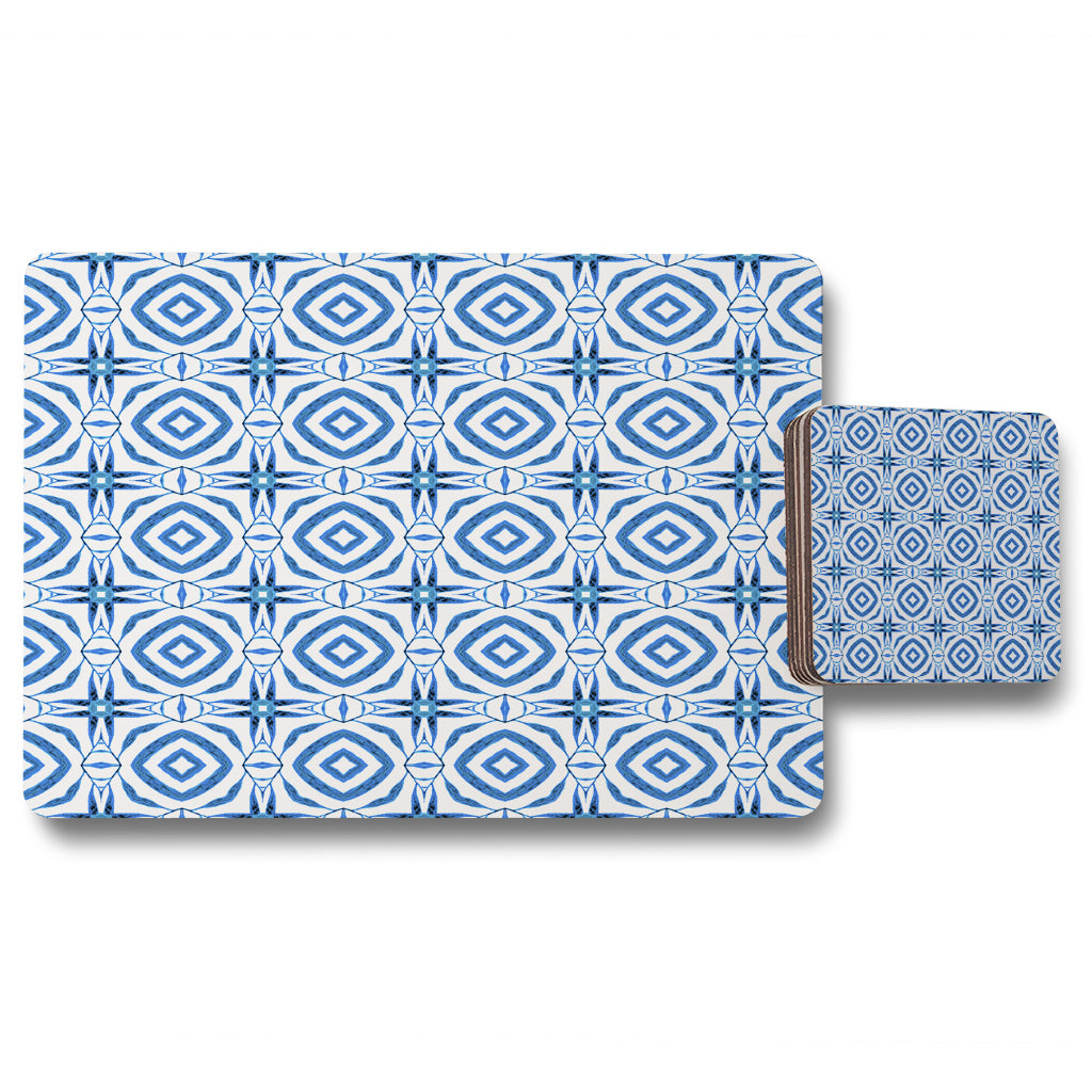 New Product Blue powerful (Placemat & Coaster Set)  - Andrew Lee Home and Living