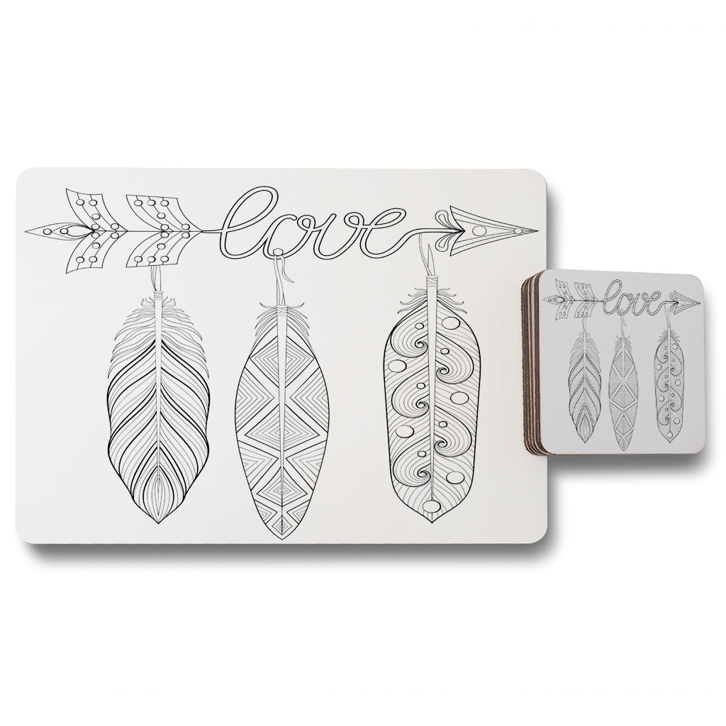 New Product Bohemian Arrow (Placemat & Coaster Set)  - Andrew Lee Home and Living
