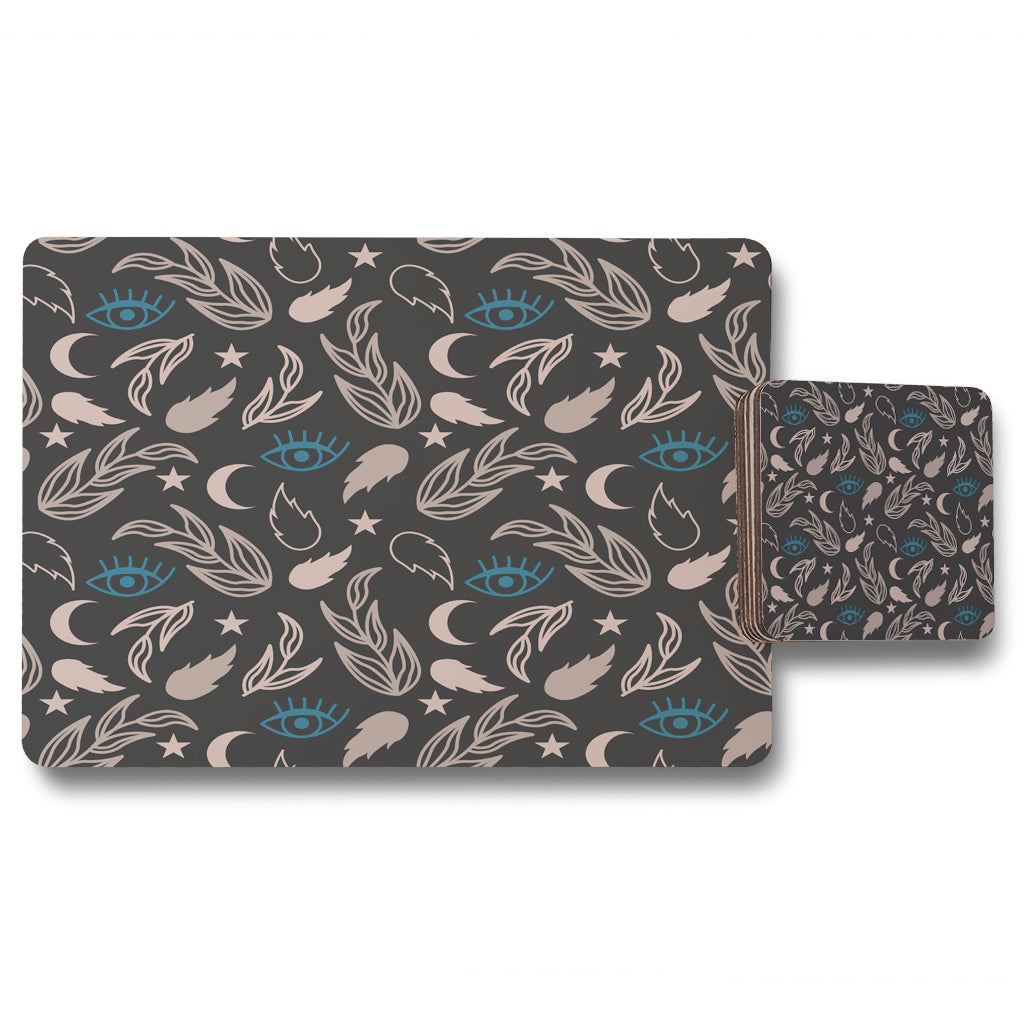 New Product Floral magic Eyes (Placemat & Coaster Set)  - Andrew Lee Home and Living