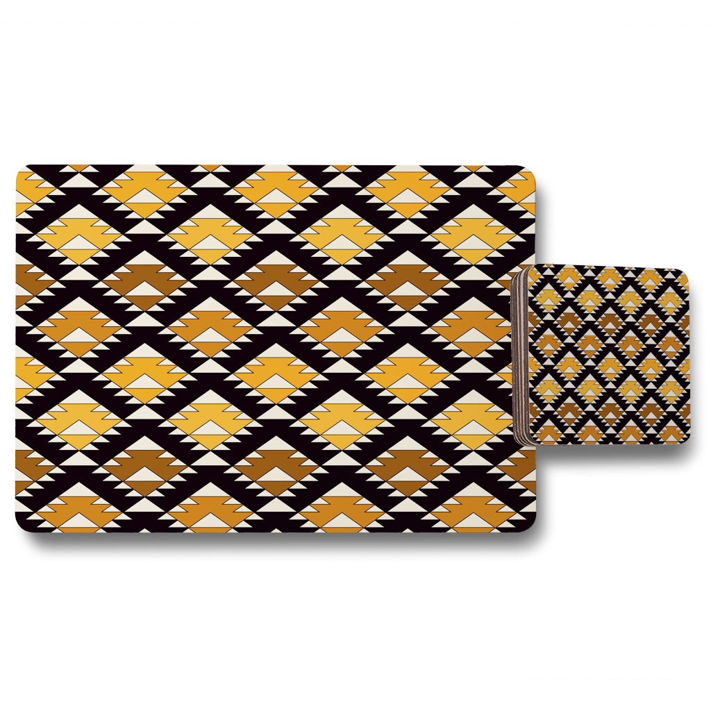 New Product Repeated triangles geometric background (Placemat & Coaster Set)  - Andrew Lee Home and Living