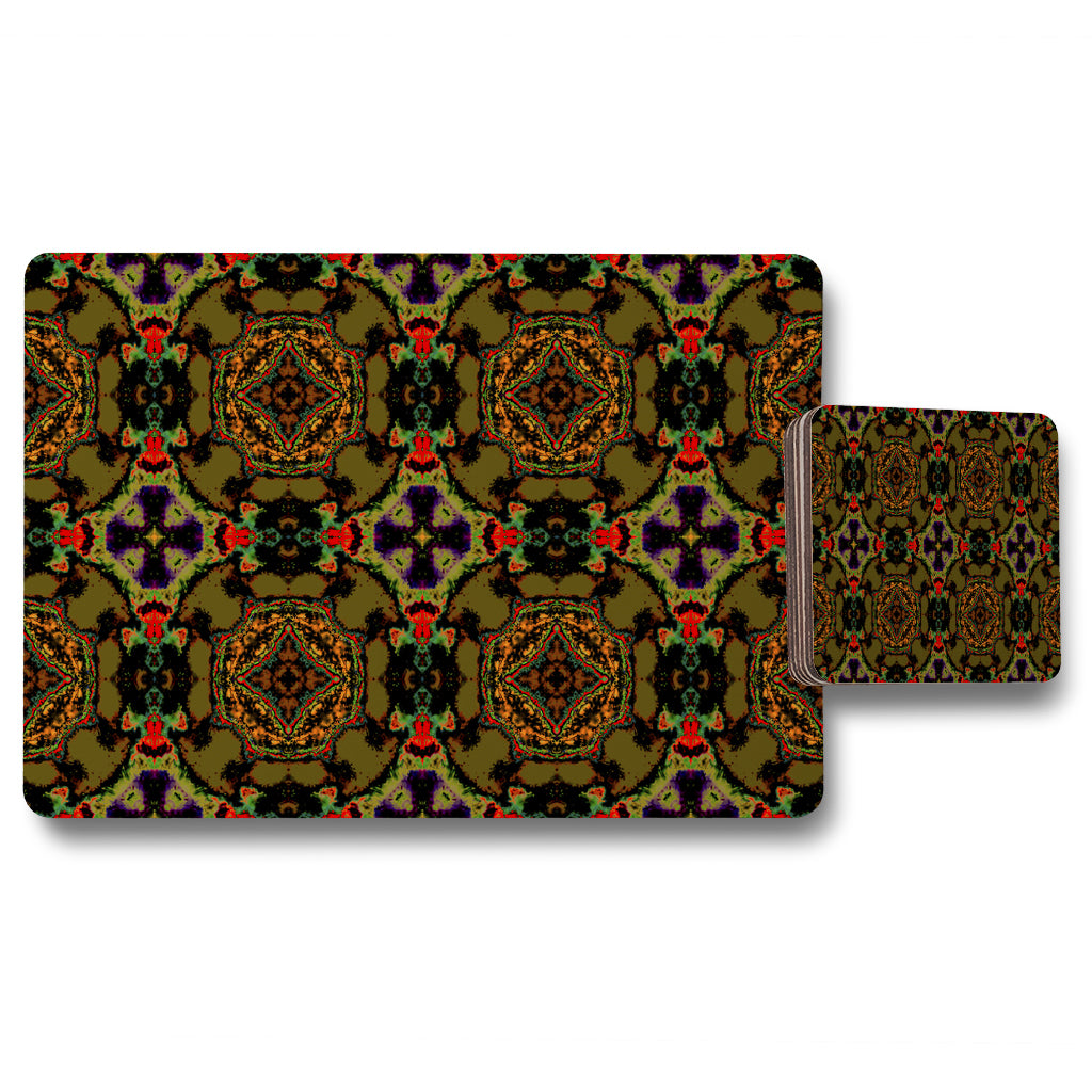 New Product Pakistan Mosaic Paint (Placemat & Coaster Set)  - Andrew Lee Home and Living