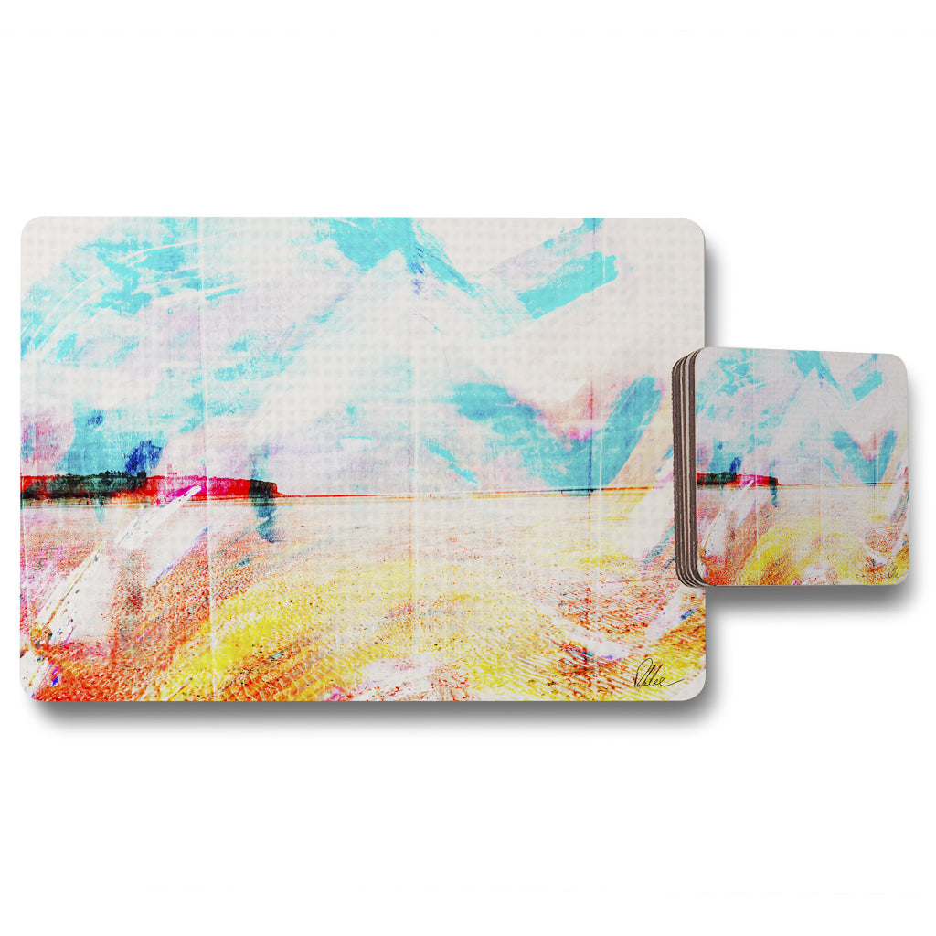 New Product beach view cliffs (Placemat & Coaster Set)  - Andrew Lee Home and Living