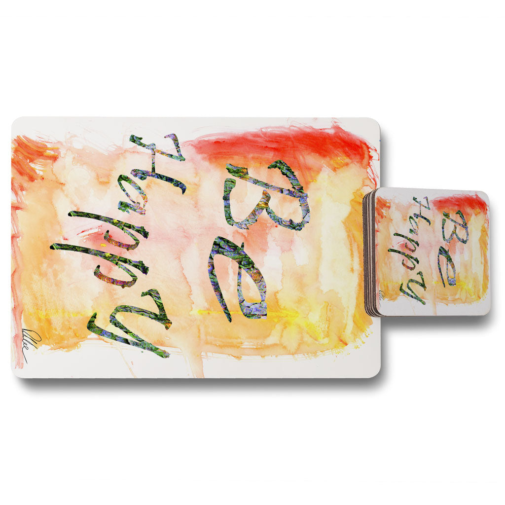 New Product Be Happy (Placemat & Coaster Set)  - Andrew Lee Home and Living