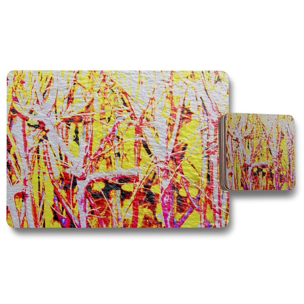 New Product River thames and red branches (Placemat & Coaster Set)  - Andrew Lee Home and Living