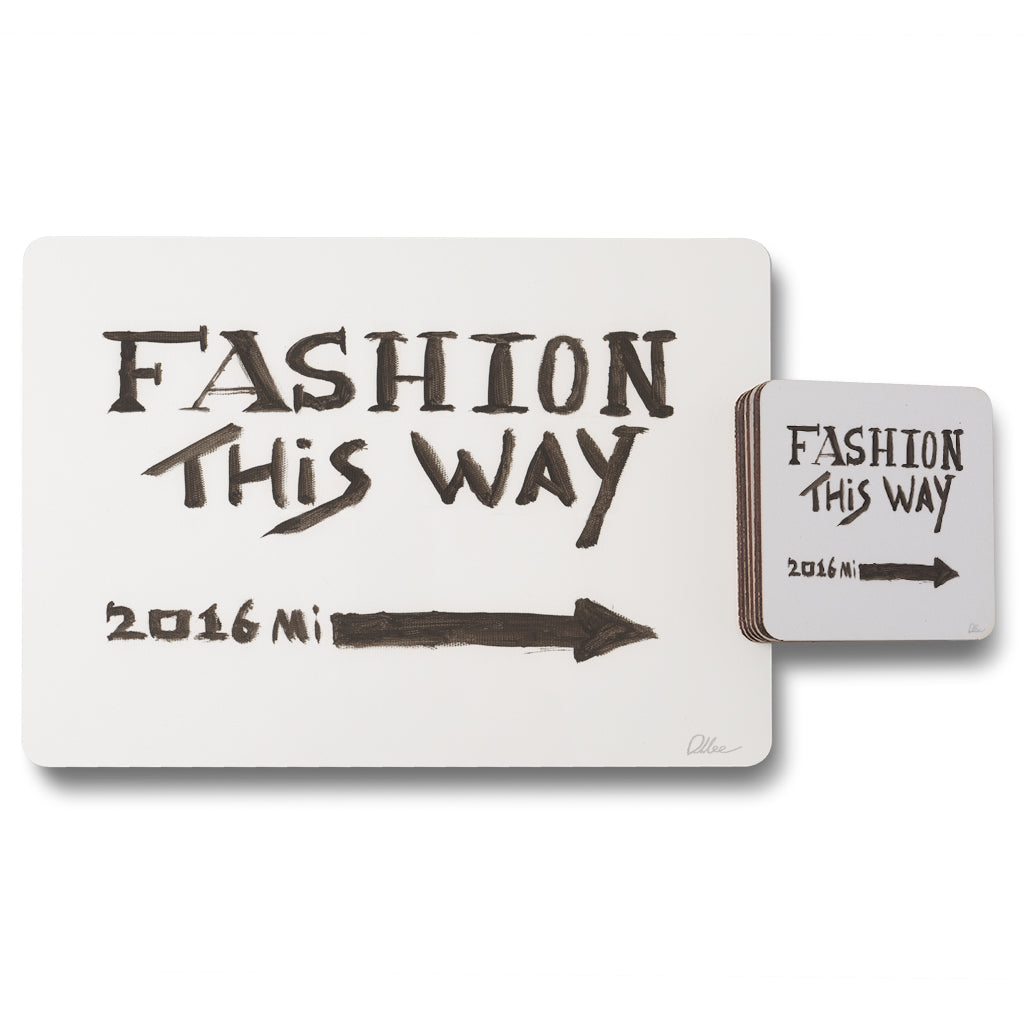 New Product Fashion This Way (Placemat & Coaster Set)  - Andrew Lee Home and Living