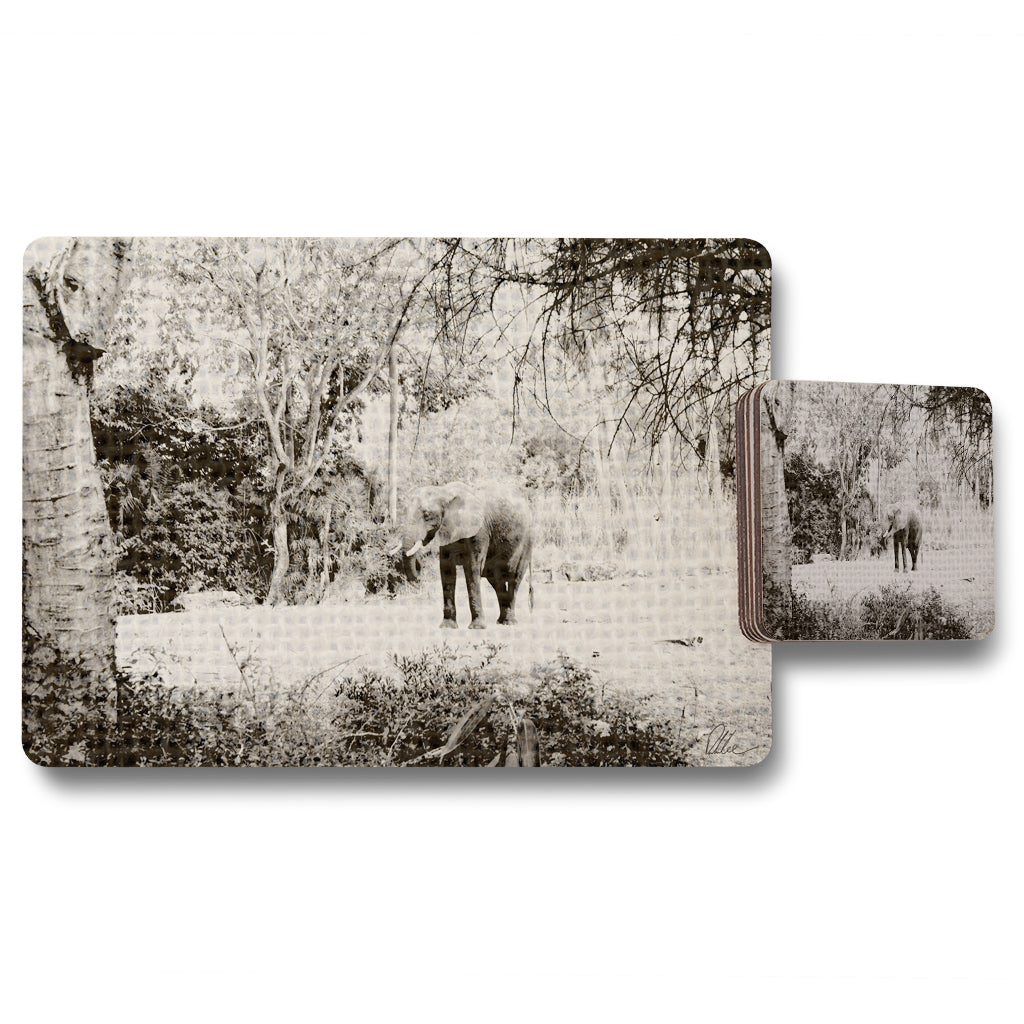 New Product Elephant jungle (Placemat & Coaster Set)  - Andrew Lee Home and Living