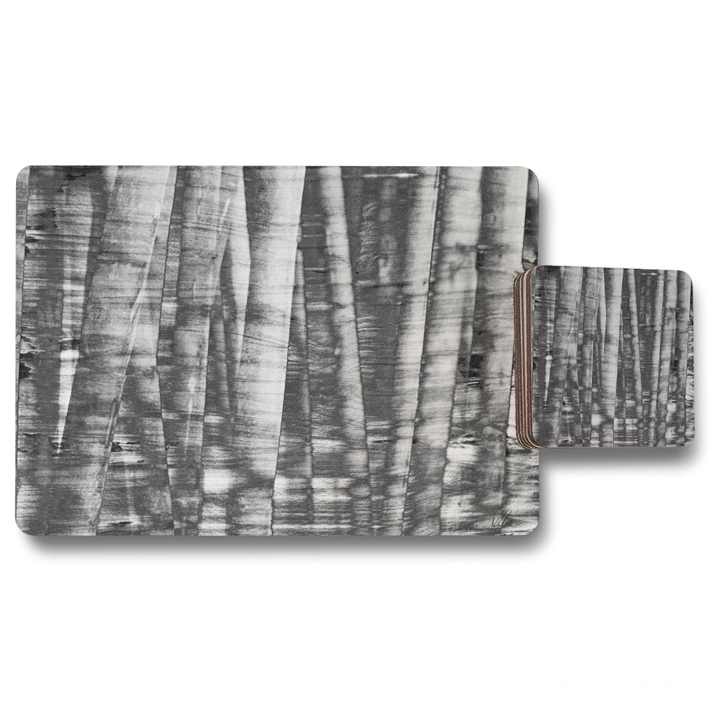 New Product Black and white bamboo (Placemat & Coaster Set)  - Andrew Lee Home and Living