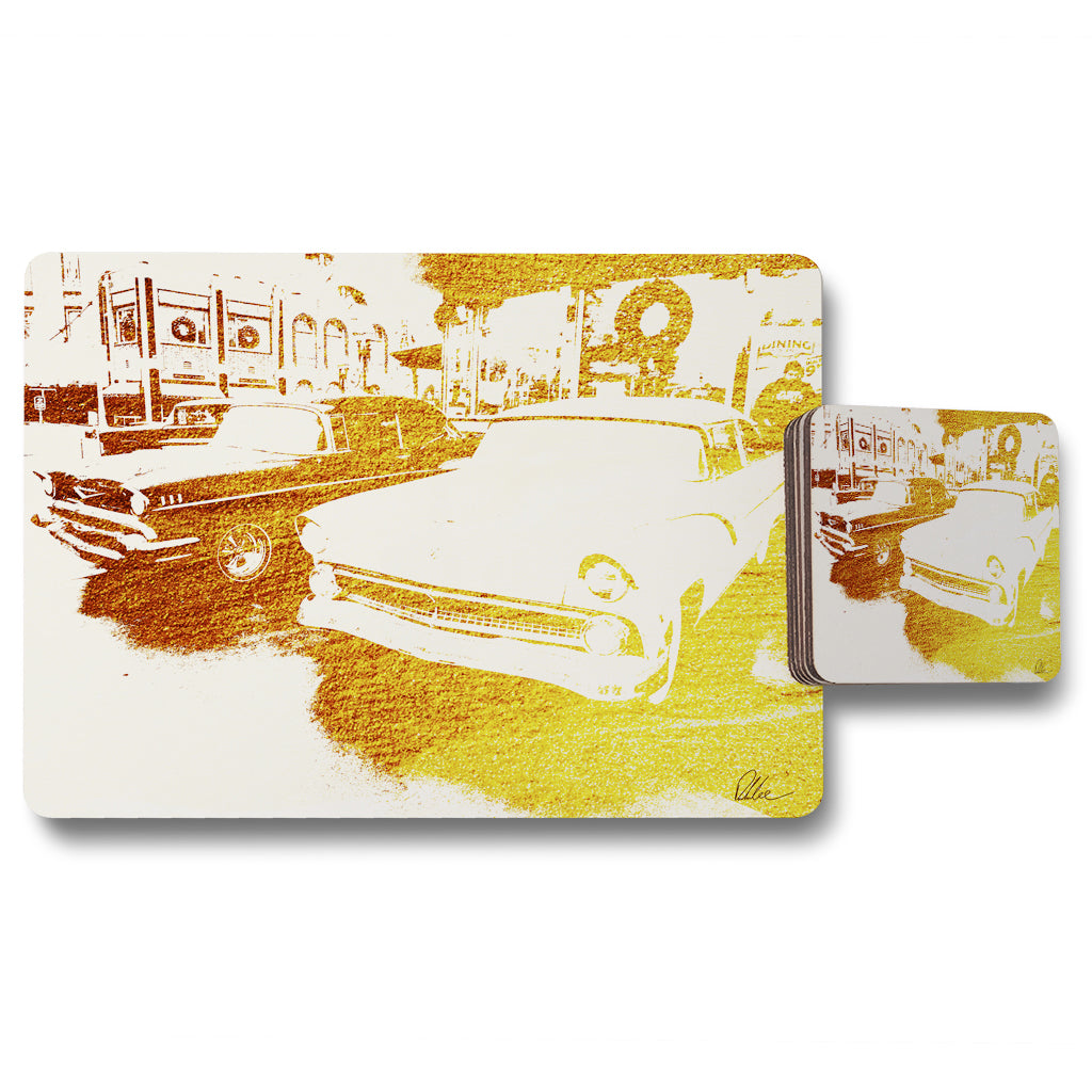 New Product cool cars (Placemat & Coaster Set)  - Andrew Lee Home and Living