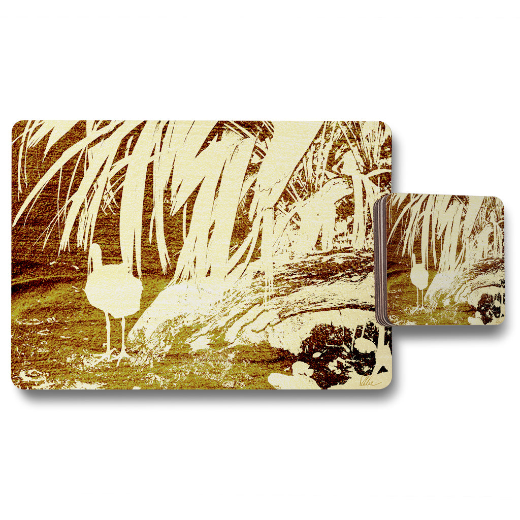 New Product Pretty Bird (Placemat & Coaster Set)  - Andrew Lee Home and Living