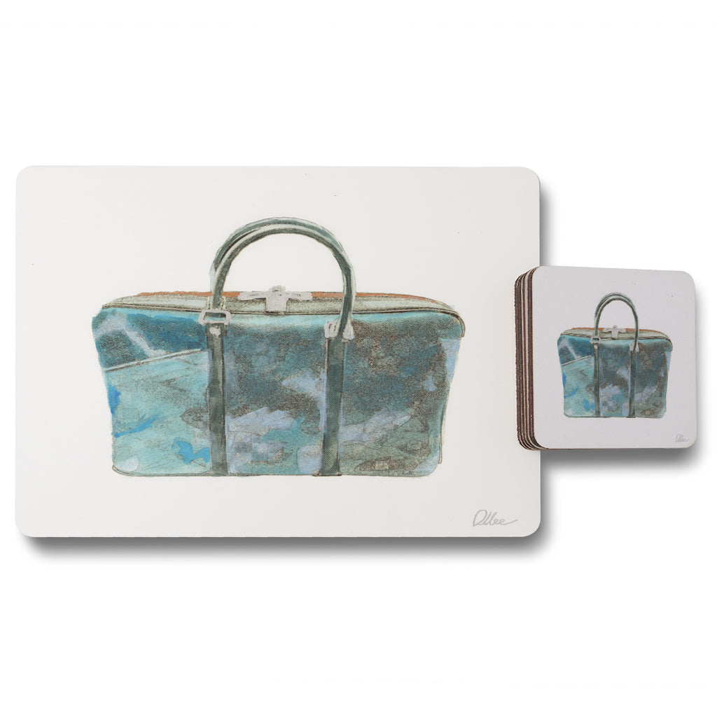 New Product Green Handbag (Placemat & Coaster Set)  - Andrew Lee Home and Living