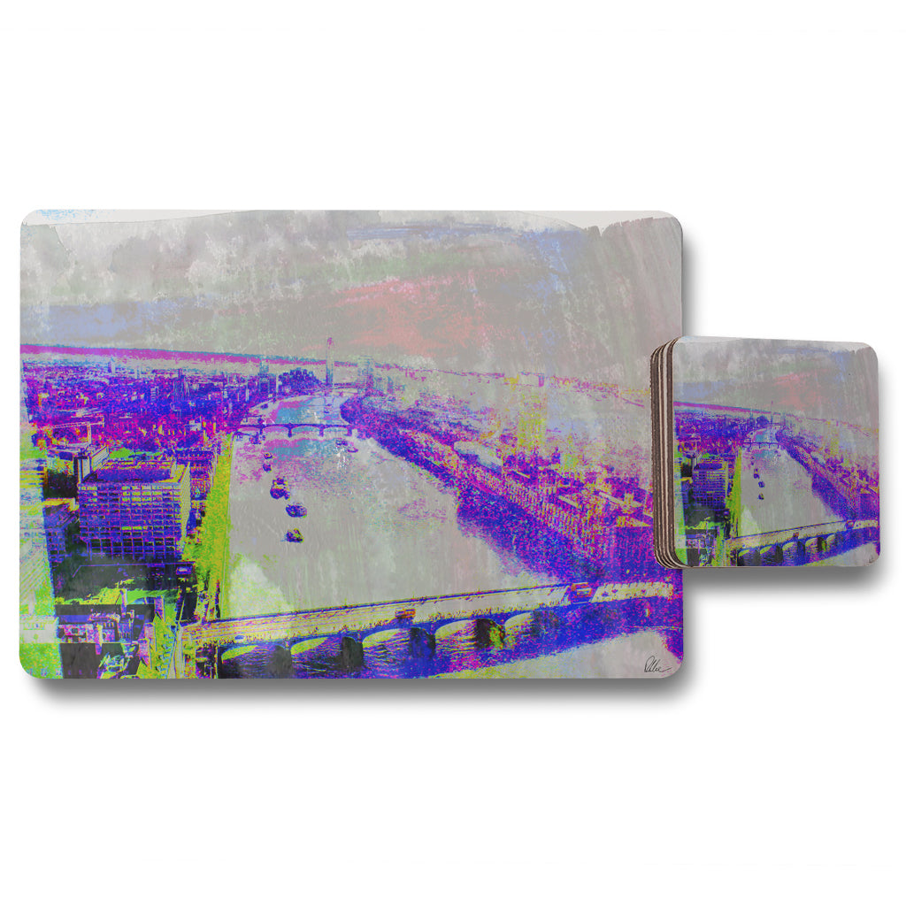 New Product London Eye view (Placemat & Coaster Set)  - Andrew Lee Home and Living