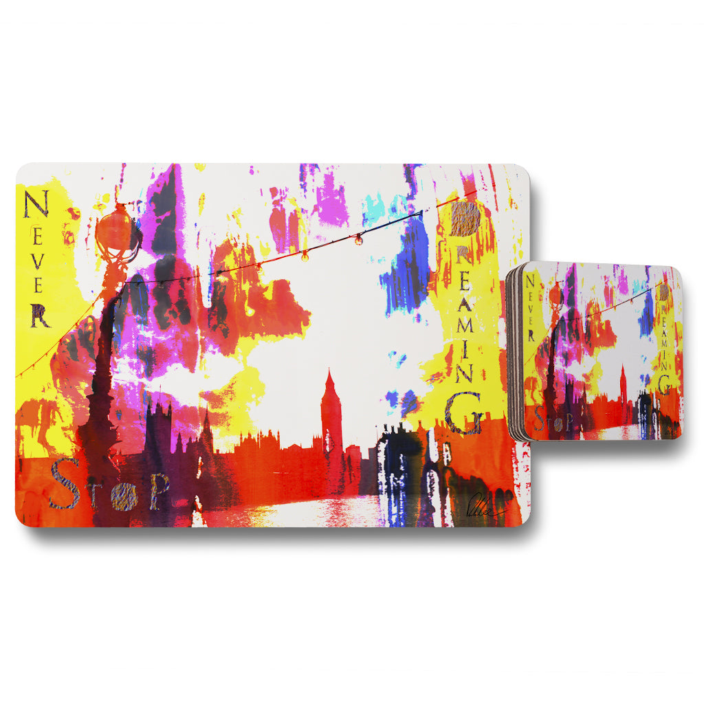 New Product Never Stop Dreaming (Placemat & Coaster Set)  - Andrew Lee Home and Living