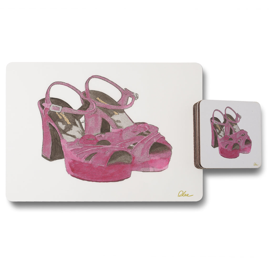 New Product Purple High Heels (Placemat & Coaster Set)  - Andrew Lee Home and Living