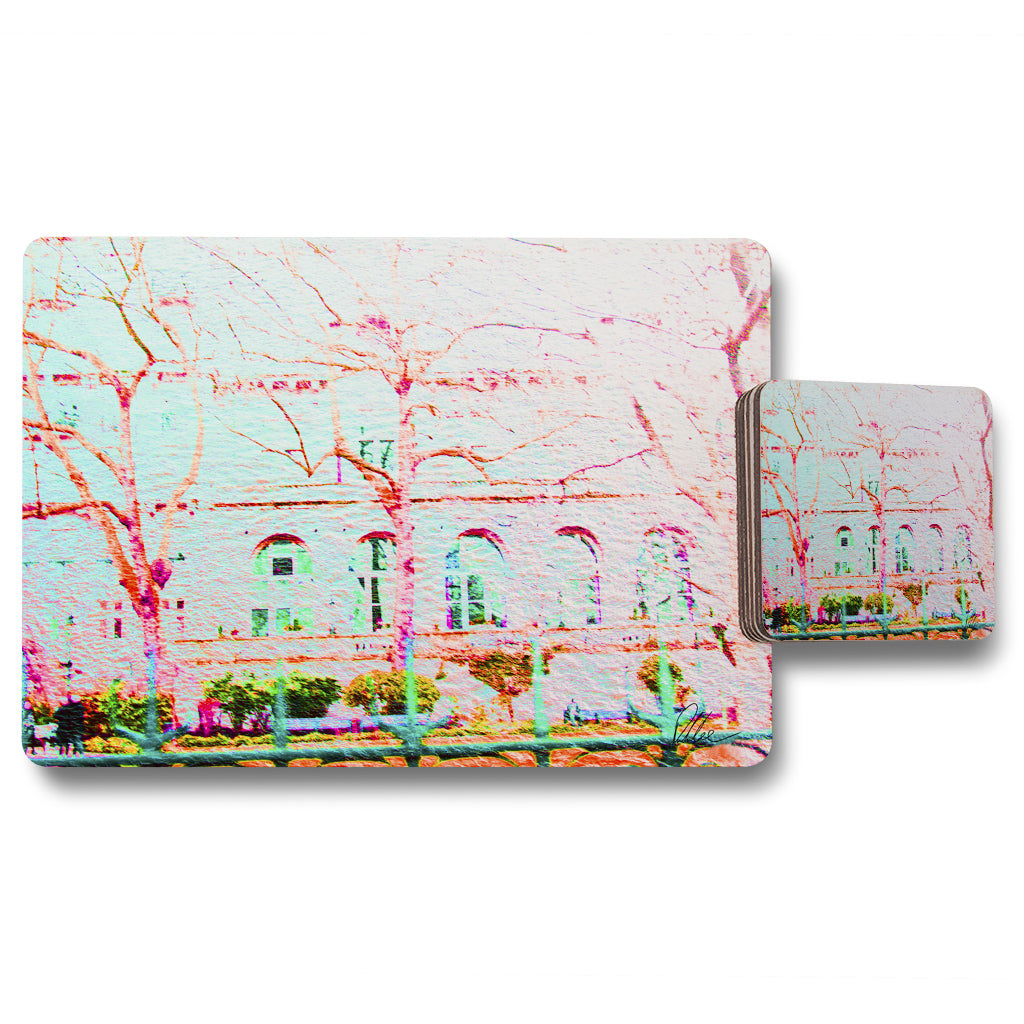 New Product Red tree in london  (Placemat & Coaster Set)  - Andrew Lee Home and Living