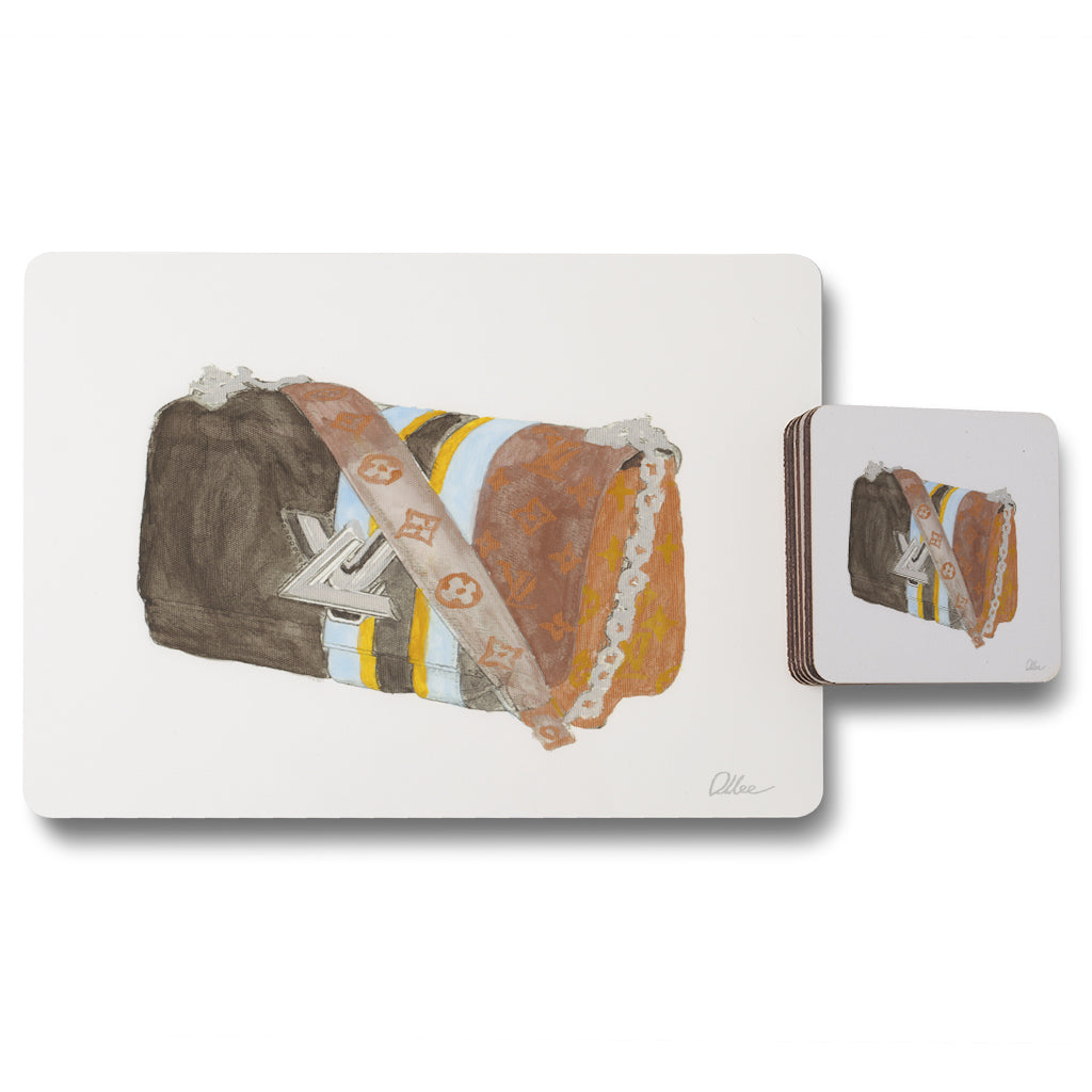 New Product Stylish bag (Placemat & Coaster Set)  - Andrew Lee Home and Living