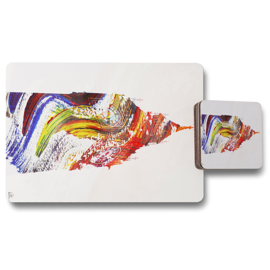 New Product SWIRLY BEN (Placemat & Coaster Set)  - Andrew Lee Home and Living