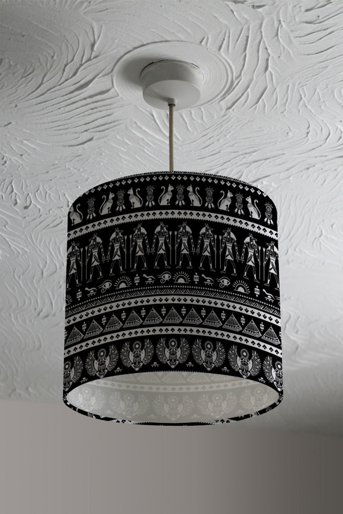 New Product Heiroglyphs on Black (Ceiling & Lamp Shade)  - Andrew Lee Home and Living