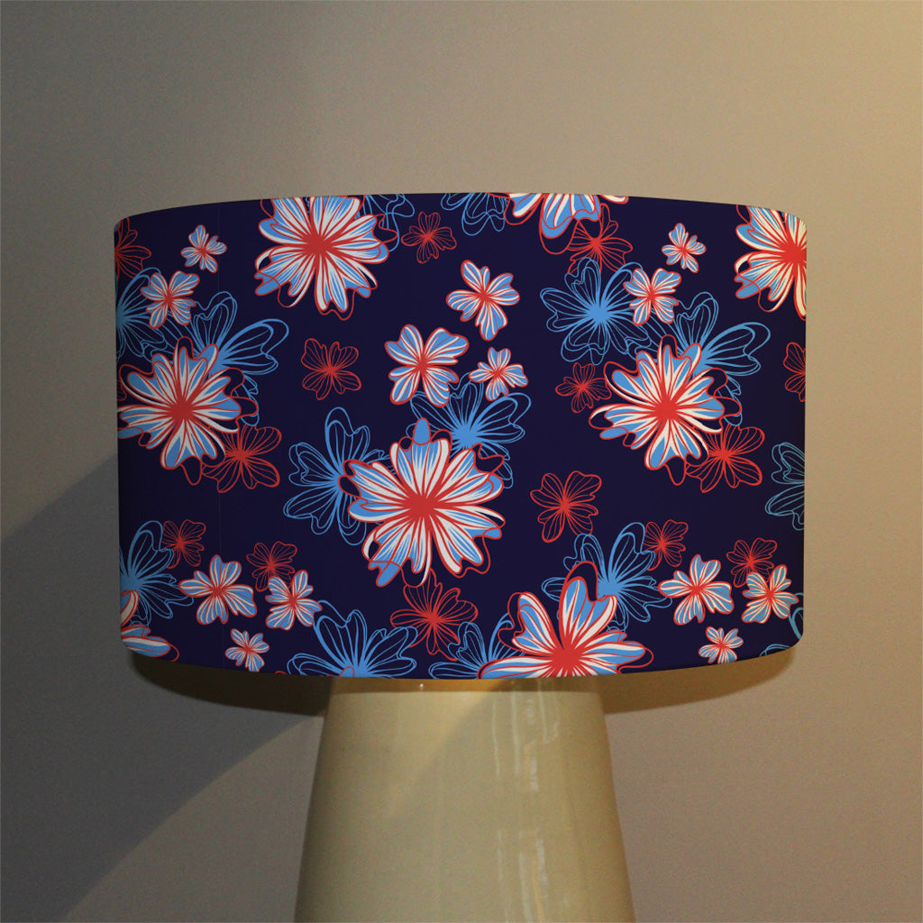 New Product Red, White & Blue Flower Print (Ceiling & Lamp Shade)  - Andrew Lee Home and Living