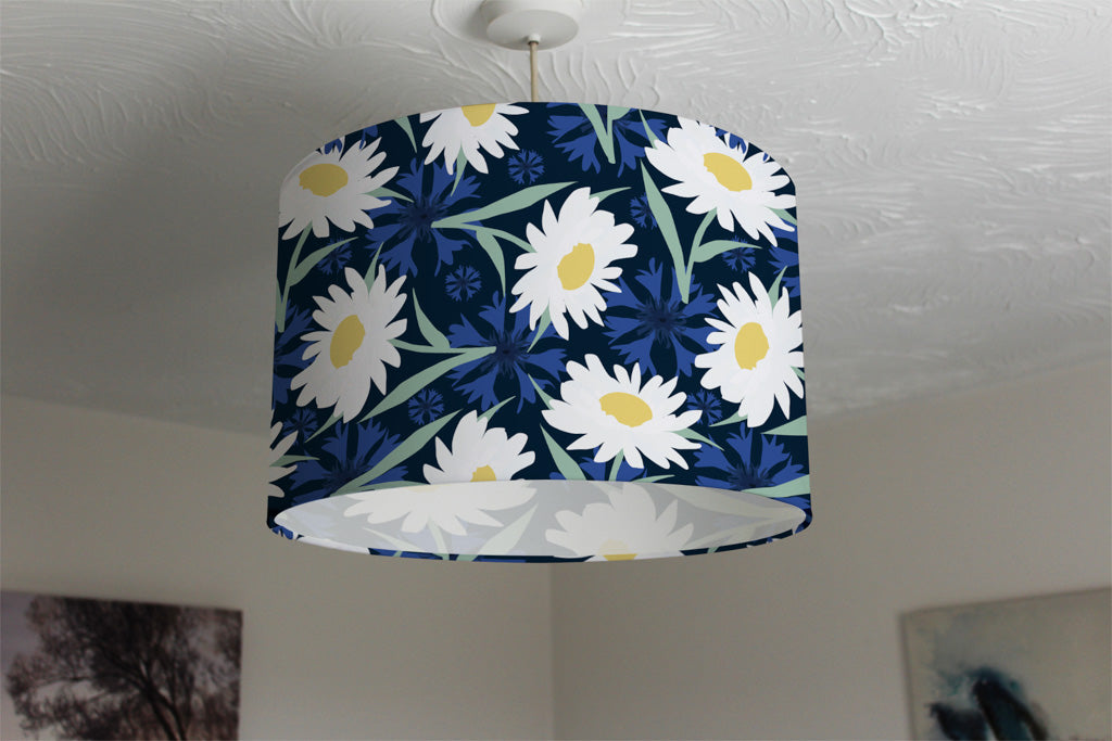 New Product Daisies on Navy (Ceiling & Lamp Shade)  - Andrew Lee Home and Living