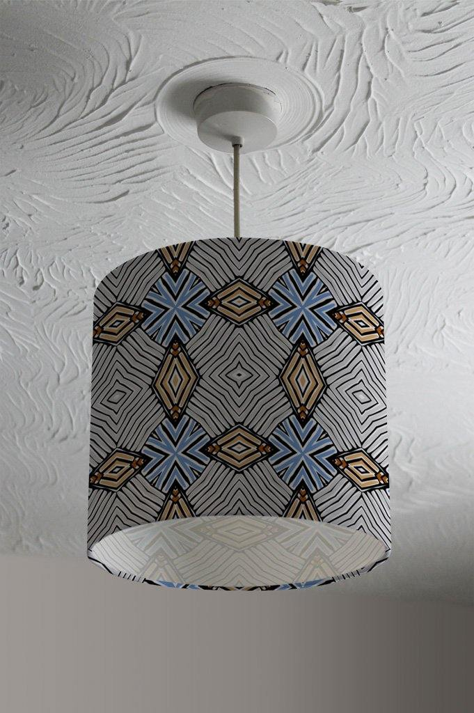 New Product Abstract geometric roughly hatched shapes colored with hand drawn brush stokes (Ceiling & Lamp Shade)  - Andrew Lee Home and Living