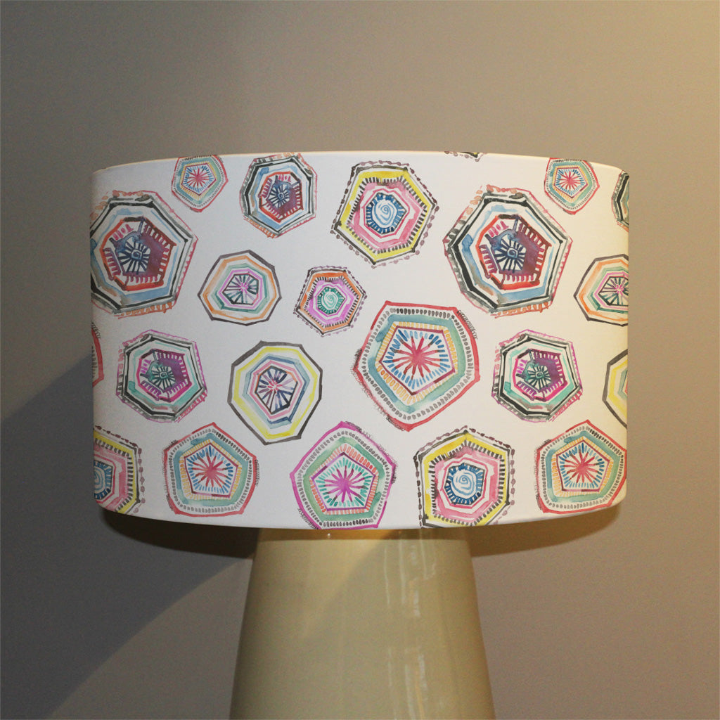 New Product Hand painted multicolor watercolor  geometrical pattern (Ceiling & Lamp Shade)  - Andrew Lee Home and Living