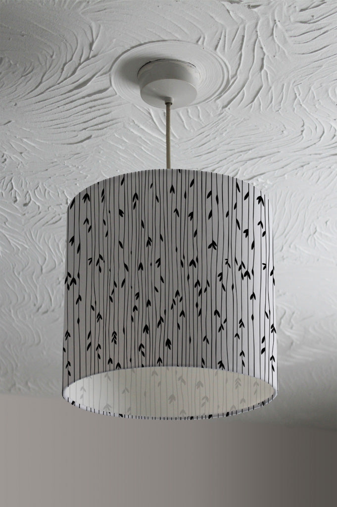 New Product sketchy leaves scattered on hand drawn lines on white background (Ceiling & Lamp Shade)  - Andrew Lee Home and Living