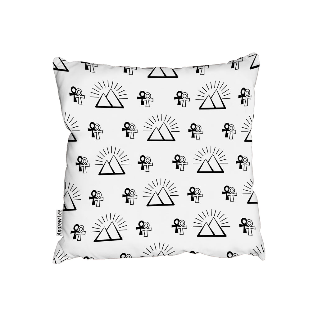 New Product Egyptian pyramid and ankh (Cushion)  - Andrew Lee Home and Living