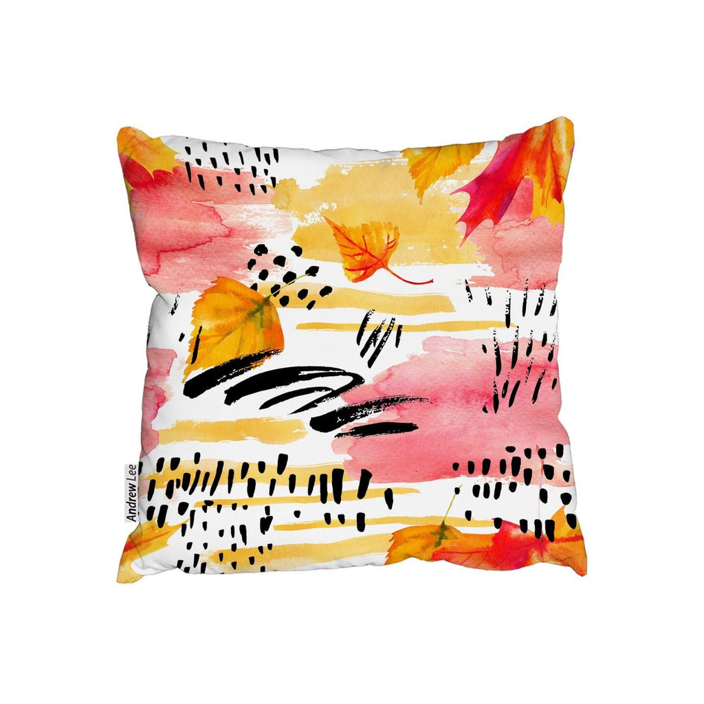 New Product Abstract fall seamless pattern in Bright autumn colours (Cushion)  - Andrew Lee Home and Living